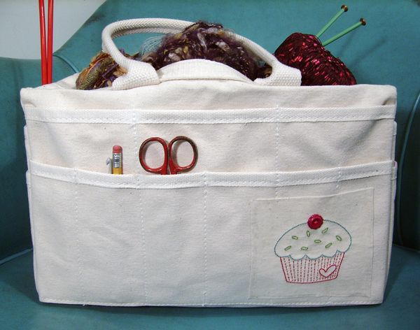 Cupcake-front tote