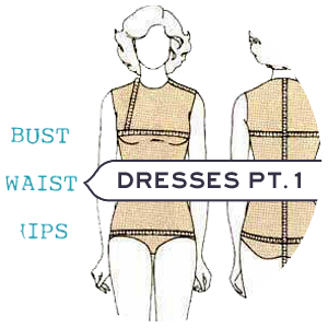 Vintage Dress Shopping - How to Measure Yourself