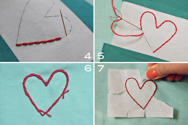 Heart stitchingB 4steps