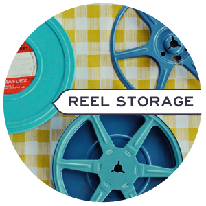 Hidden Storage using Vintage Film Reels