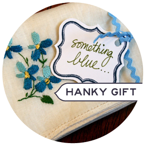 Wrap a Vintage Hanky as a Special Gift