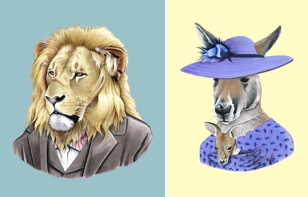 Berkley illustration_lion+kangaroo