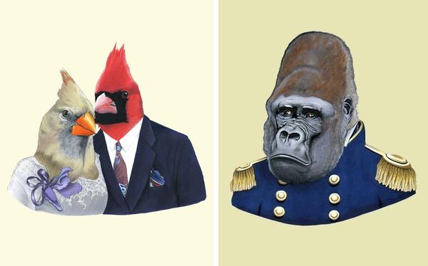 BerkleyIllustration_cardinals+gorilla