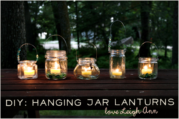 DIY Hanging Jar Lanterns