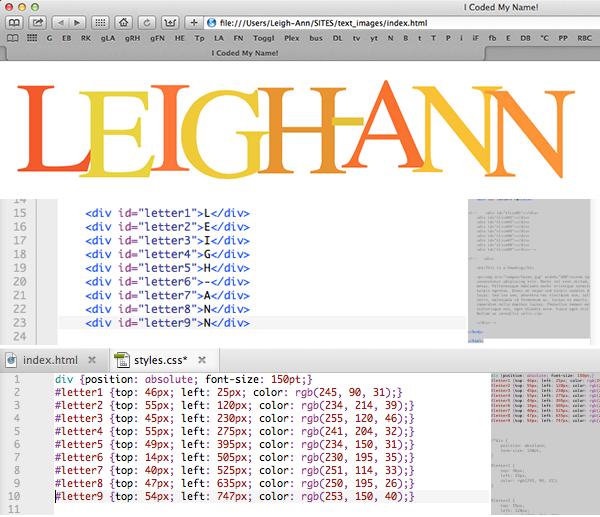 Leigh-Ann code